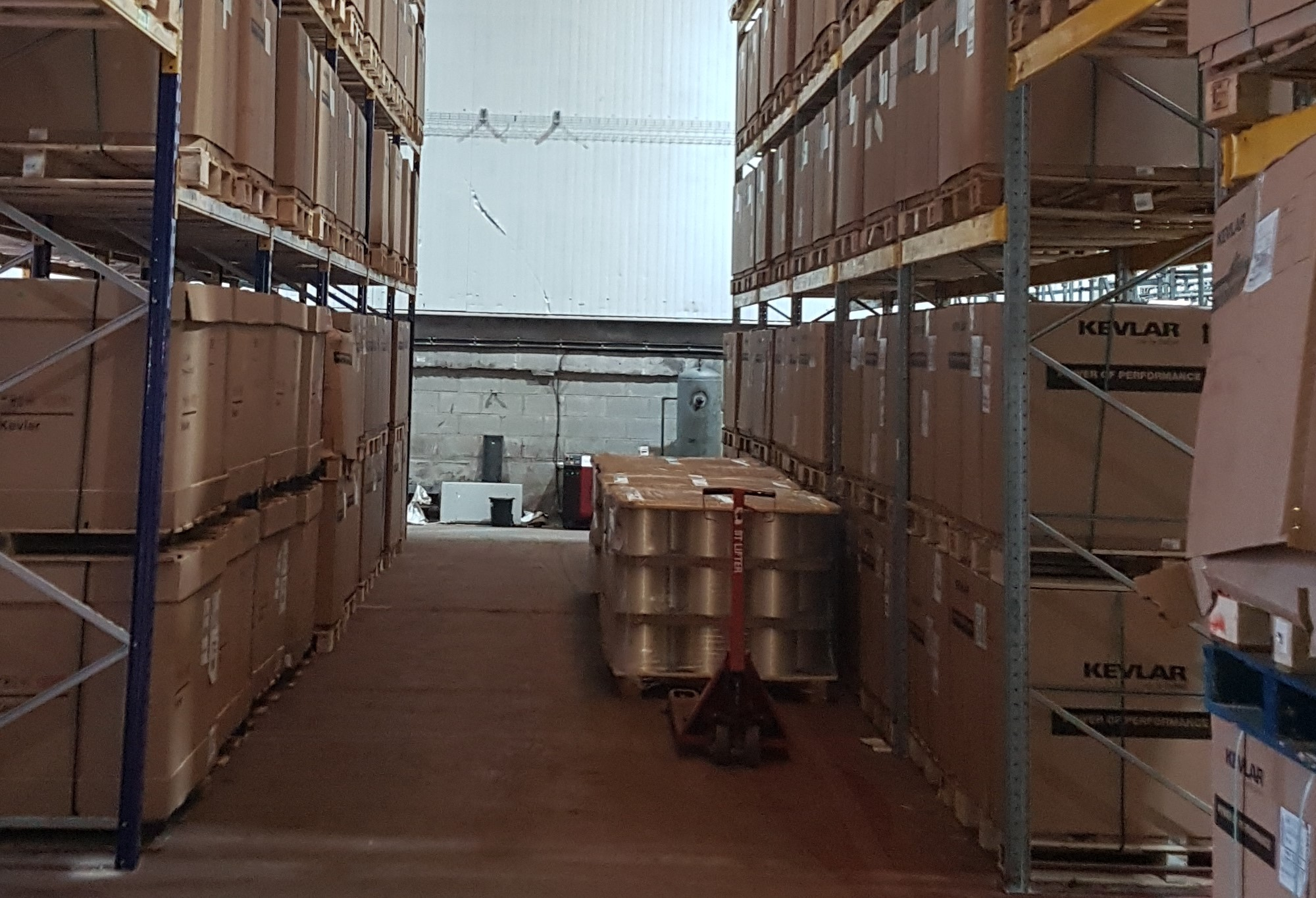 warehousing at Harding Speciality Fibers
